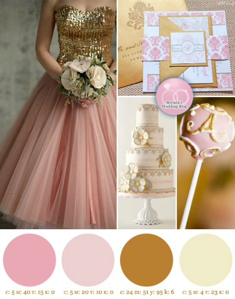 pink and gold design inspiration