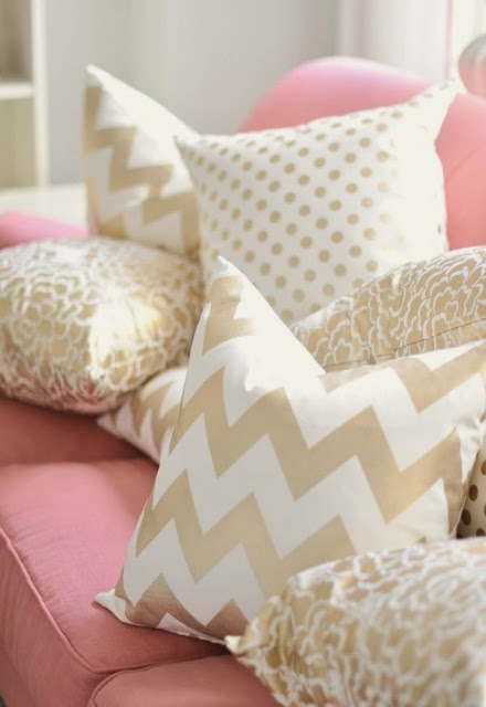 pink and gold design inspiration home decor