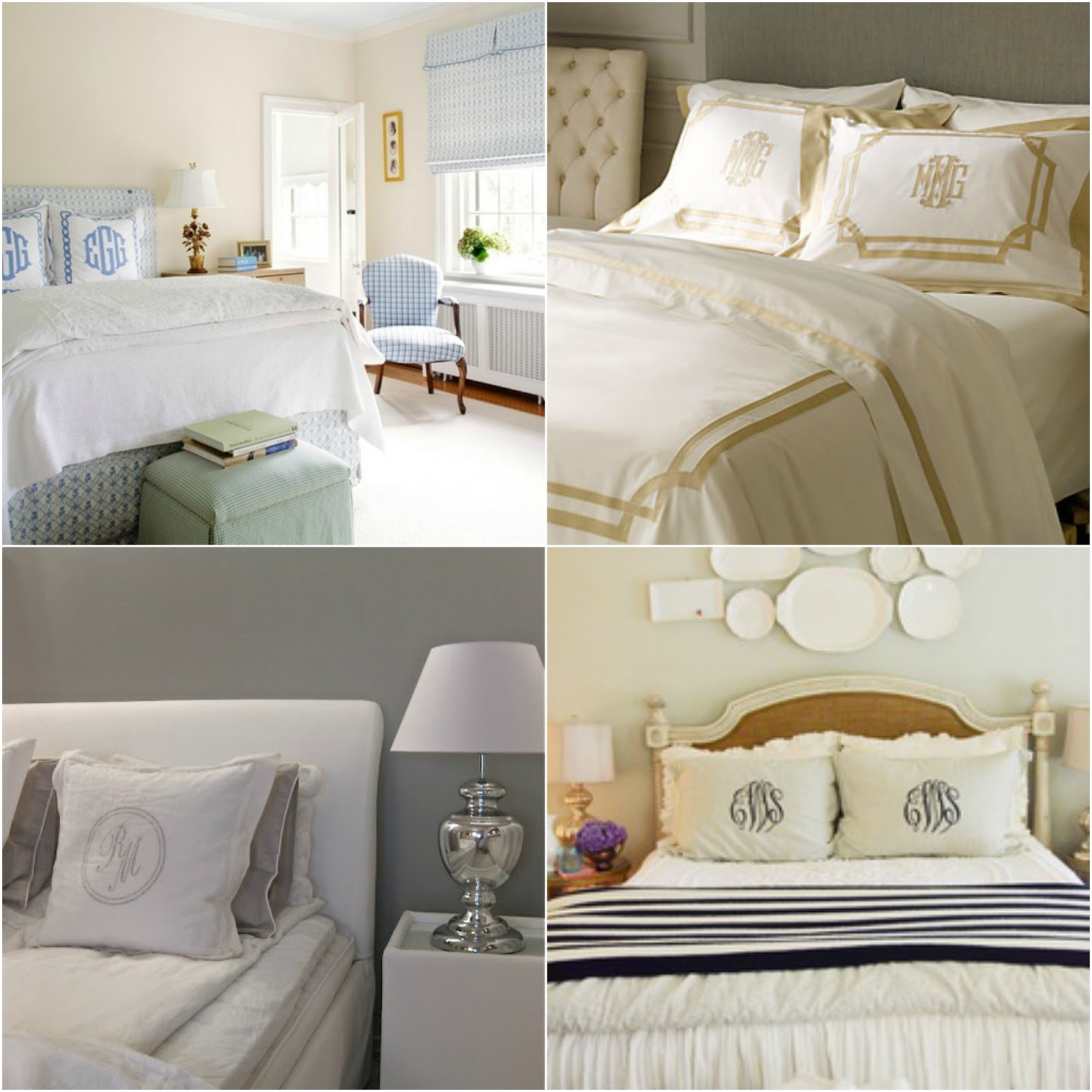 Monogrammed Bedding Obsession The Southern Thing