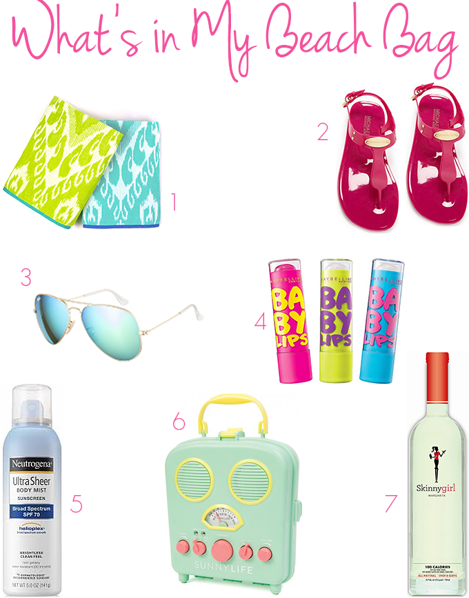 What's in My Beach Bag • The Southern Thing