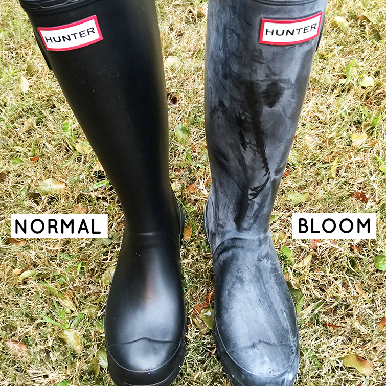 Your hunter boots when they turn whiteunter boots when they turn white