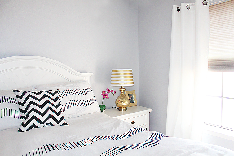 Why i chose a bright color scheme for our home - White black and pink bedroom ...
