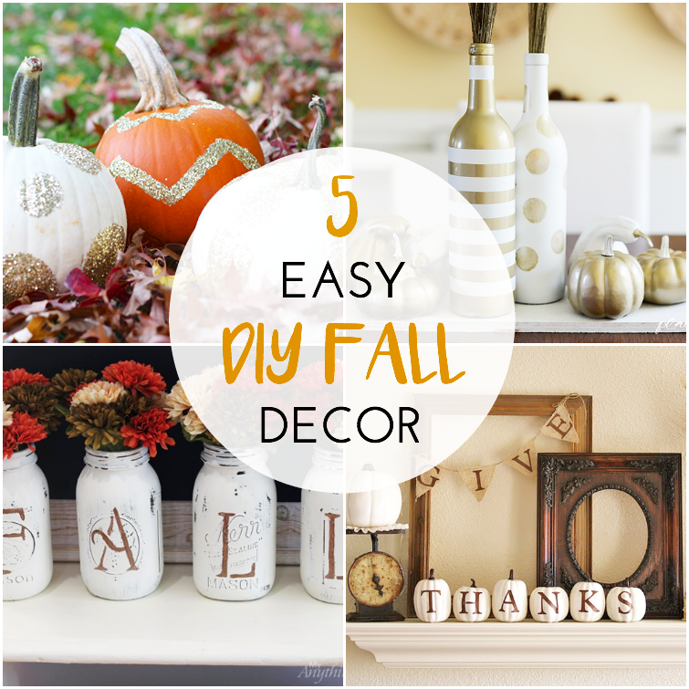 5 easy diy fall decor projects for the home the southern for Homemade fall decorations for home
