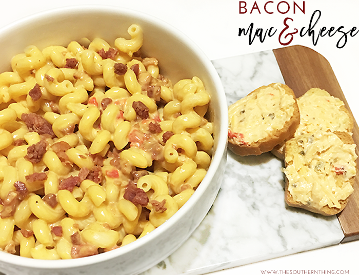Bacon Pimiento Mac and Cheese • The Southern Thing