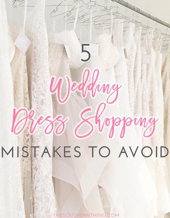 wedding dress shopping mistakes avoid