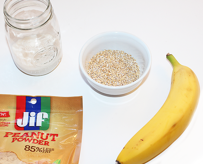 Peanut Butter Banana Oatmeal Smoothie Ingredients