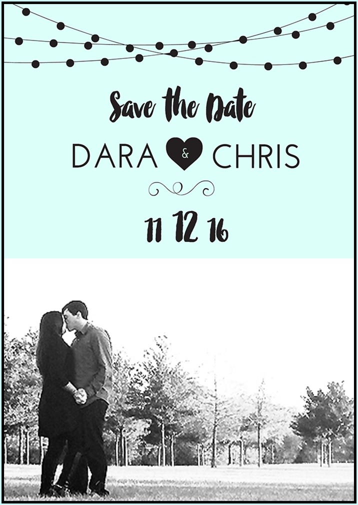 Save the Date Template - Black Stripe - Black and White Save the Date ...