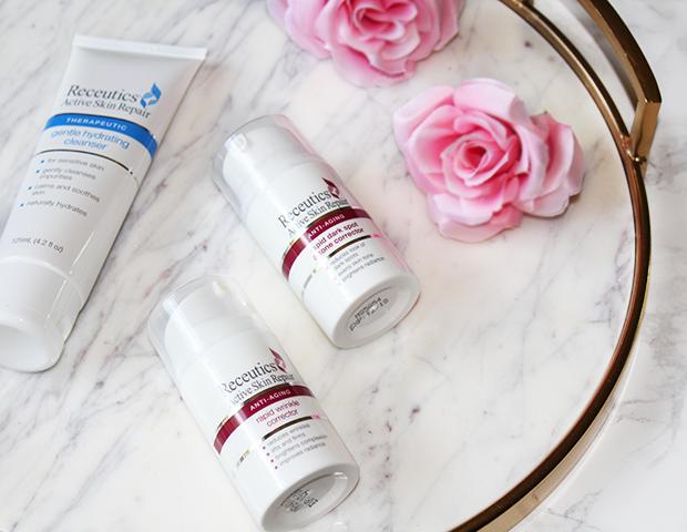 receutics anti-aging skin repair routine