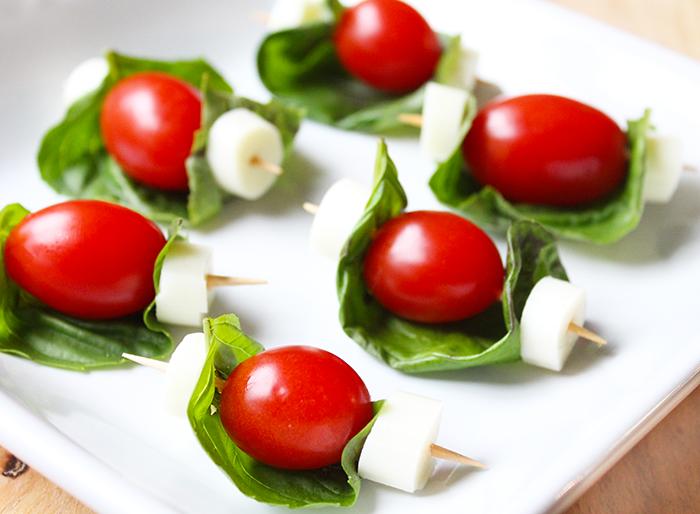 Caprese Salad Skewer Appetizer