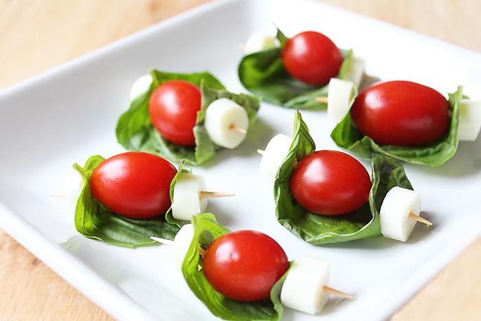 Caprese Salad Skewer Bites Recipe