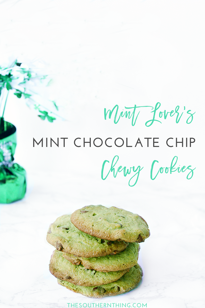 Mint Lover's Mint Chocolate Chip Cookies