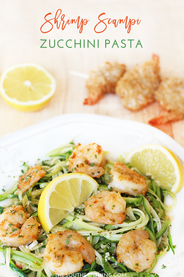 Shrimp Scampi Zucchini Noodle Pasta