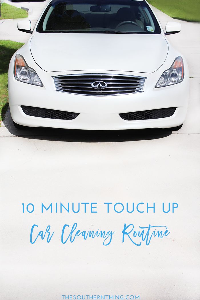 10-Minute Touch Up Car Cleaning Routine