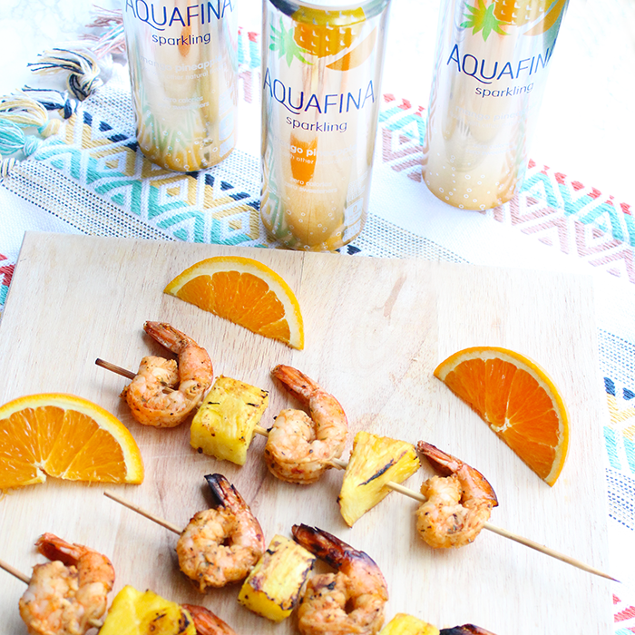 Caribbean Shrimp and Pineapple Kabobs