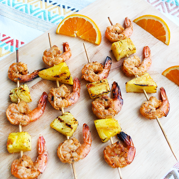 Caribbean Shrimp Skewers