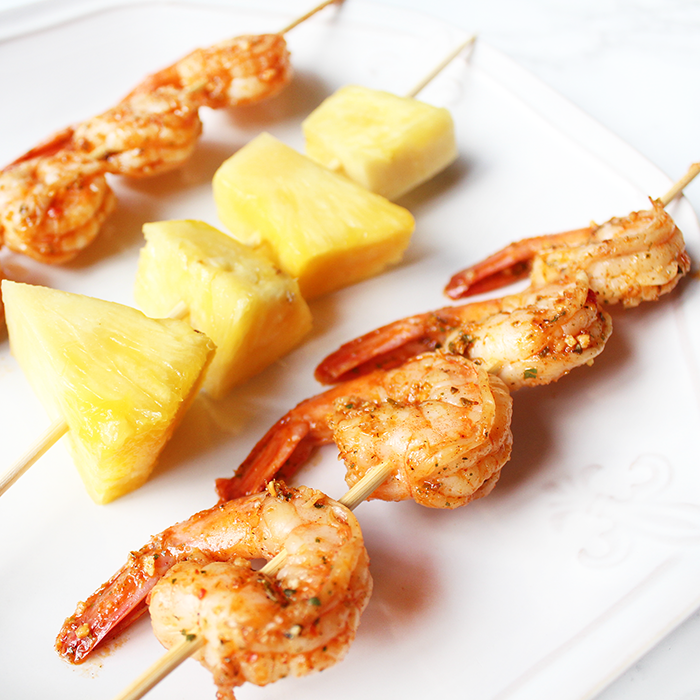 Caribbean Style Shrimp and Pineapple Kabobs