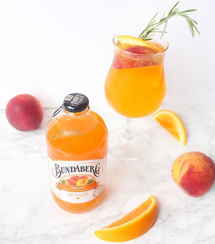 Sparkling Peach Punch Cocktail