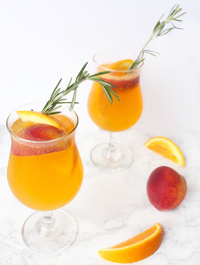 Sparkling Peach Punch Cocktail Recipe