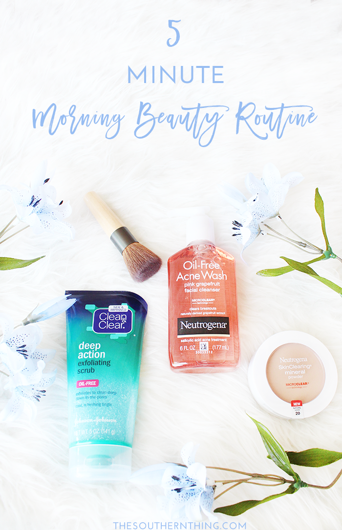 5 Minute Morning Beauty Routine
