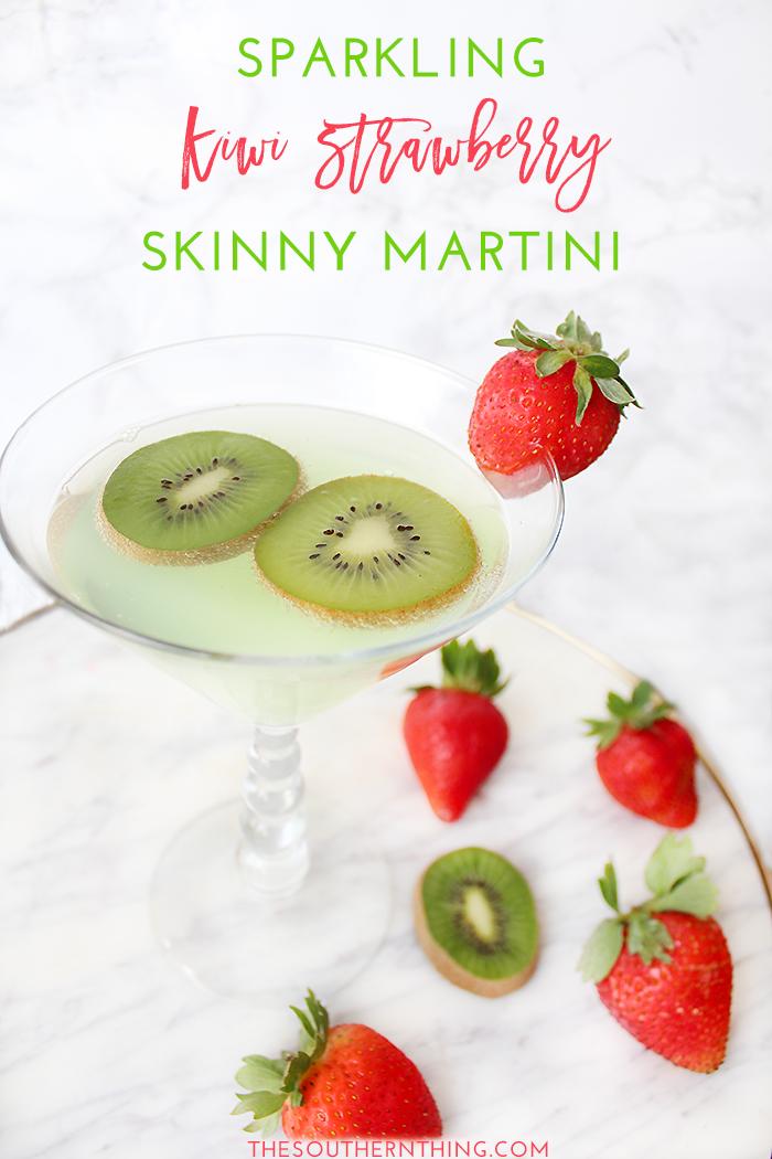 Sparkling Kiwi Strawberry Skinny Martini